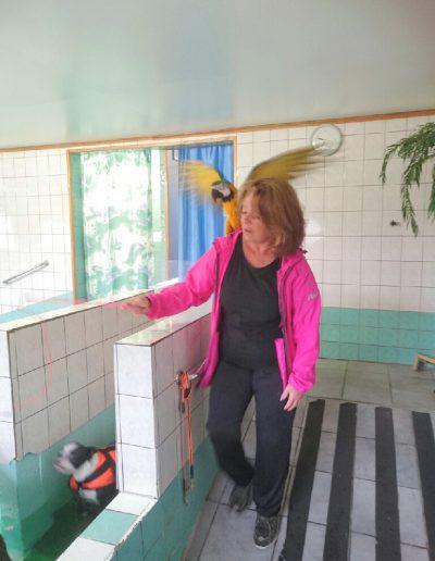 Irene med fågel